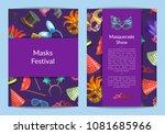 vector card or flyer templates... | Shutterstock .eps vector #1081685966