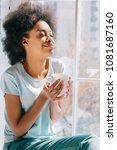 relaxed african american girl... | Shutterstock . vector #1081687160