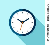 clock icon in flat style  round ... | Shutterstock .eps vector #1081688609