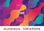 bubble shapes composition.... | Shutterstock .eps vector #1081690046