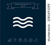 wave icon symbol | Shutterstock .eps vector #1081691099