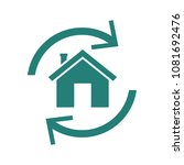 home reverse mortgage icon.... | Shutterstock .eps vector #1081692476