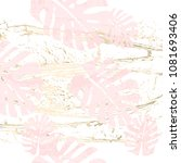 tropical worn floral pastel...   Shutterstock .eps vector #1081693406