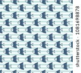 seamless pattern with fish.... | Shutterstock .eps vector #1081698878