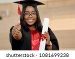 positive girl graduating from... | Shutterstock . vector #1081699238