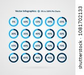 percentage vector infographics. ... | Shutterstock .eps vector #1081702133