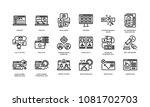 digital marketing icons set 2 | Shutterstock .eps vector #1081702703