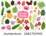 set of jungle design elements   ... | Shutterstock .eps vector #1081702940