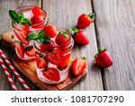 hibiscus strawberry rhubarb... | Shutterstock . vector #1081707290