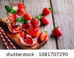 hibiscus strawberry rhubarb... | Shutterstock . vector #1081707290