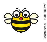 vector simple bee design with a ... | Shutterstock .eps vector #1081708499