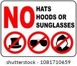 no sunglasses sign on white... | Shutterstock . vector #1081710659
