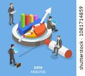 data analysis flat isometric... | Shutterstock .eps vector #1081714859