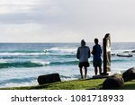 surfing dbah and snapper rocks | Shutterstock . vector #1081718933