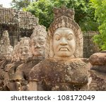 South Gate To Angkor Thom In...