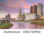 view of downtown columbus ohio... | Shutterstock . vector #1081720940
