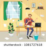 theater director writes the... | Shutterstock .eps vector #1081727618