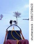 dog sledding in winter in... | Shutterstock . vector #1081728623