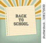Vintage Back To School Design