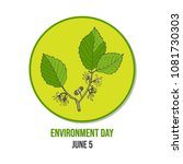world environment day card eco... | Shutterstock .eps vector #1081730303