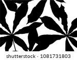 vector black silhouettes of... | Shutterstock .eps vector #1081731803