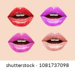 pink  red and nude sensual... | Shutterstock .eps vector #1081737098