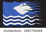 a wavy isle of wight flag... | Shutterstock .eps vector #1081746368