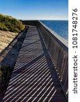 wooden bridge with a beautiful...   Shutterstock . vector #1081748276