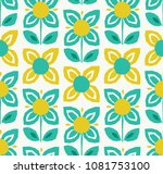 seamless pattern with flowers... | Shutterstock .eps vector #1081753100