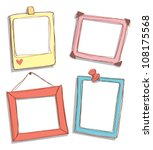 set of cute frame | Shutterstock .eps vector #108175568
