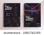 electronic music fest posters... | Shutterstock .eps vector #1081762190