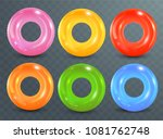 swim rings set on transparent... | Shutterstock .eps vector #1081762748