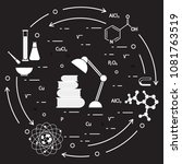 scientific  education elements. ... | Shutterstock .eps vector #1081763519