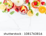 cold white  pink and red... | Shutterstock . vector #1081763816