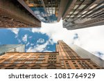view from the bottom to top of... | Shutterstock . vector #1081764929