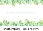 seamless botanical background... | Shutterstock .eps vector #1081766993