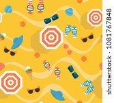 colorful summer vector...   Shutterstock .eps vector #1081767848