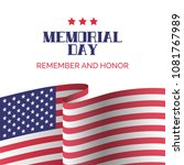 memorial day card. remember and ... | Shutterstock .eps vector #1081767989