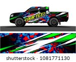 truck graphic vector. abstract... | Shutterstock .eps vector #1081771130