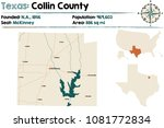 detailed map of collin county... | Shutterstock .eps vector #1081772834
