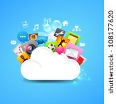 cloud storage vector  layered... | Shutterstock .eps vector #108177620