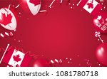 1st of july. canada... | Shutterstock .eps vector #1081780718