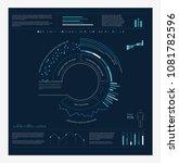 hud infographics circle vector... | Shutterstock .eps vector #1081782596