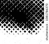 grunge halftone black and white ... | Shutterstock .eps vector #1081786370