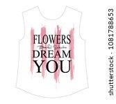stylish trendy slogan tee t... | Shutterstock .eps vector #1081788653