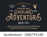 original handmade alphabet.... | Shutterstock .eps vector #1081791140