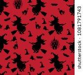 abstract seamless halloween... | Shutterstock .eps vector #1081791743