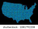 halftone dot usa map. vector... | Shutterstock .eps vector #1081792208