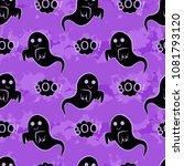 abstract seamless halloween... | Shutterstock .eps vector #1081793120