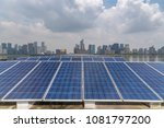 solar and modern city skyline  | Shutterstock . vector #1081797200